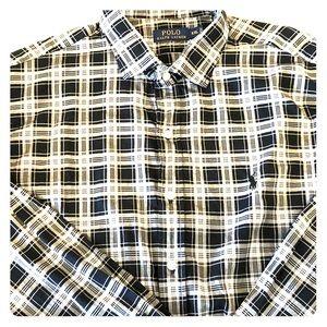 Ralph Lauren polo black white check plaid shirt